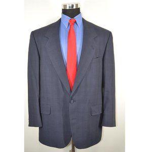 Gianelli 44R Sport Coat Blazer Suit Jacket Blue Pl